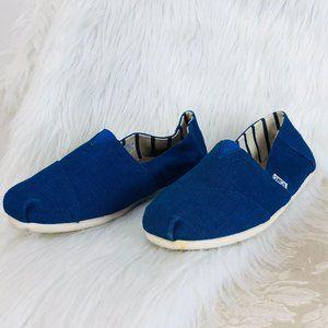 Toms Bright Blue Men's Canvas Slip On Shoes
